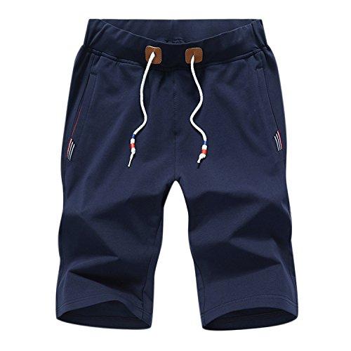 semen Homme Short de Bain Pantalon Court Mi-Longue Décontracté Casual Uni Plage Vacances Natation Bermuda Elastique Printemps Eté