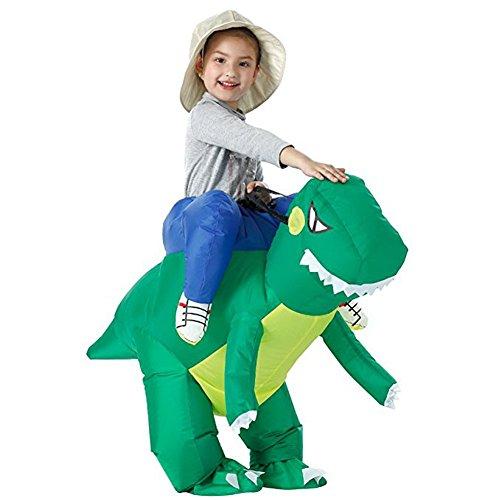 Costour Aufblasbares Dinosaurier-Kostüm für Kinder Karneval Tier Reiten Carry-Kostüm (Dinosaurier Kostüm Aufblasbare Reiten)