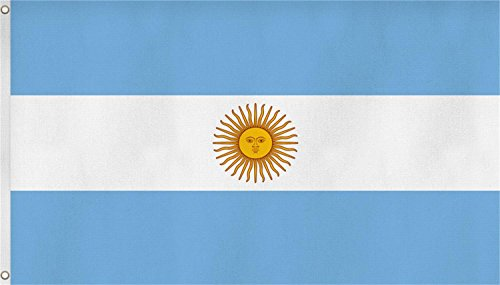 normani Fahne mit Messingösen 90 x 150, 150 x 250 oder 300 x 500 cm wählbar Farbe Argentinien Größe 90 x 150