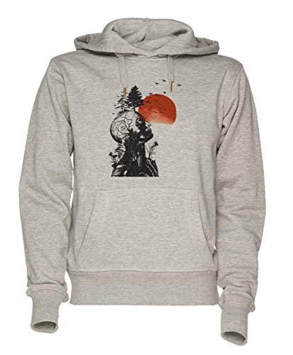 Jergley Alans Kater Unisex Grau Sweatshirt Kapuzenpullover Herren Damen Größe XXL | Unisex Sweatshirt Hoodie for Men and Women Size ()