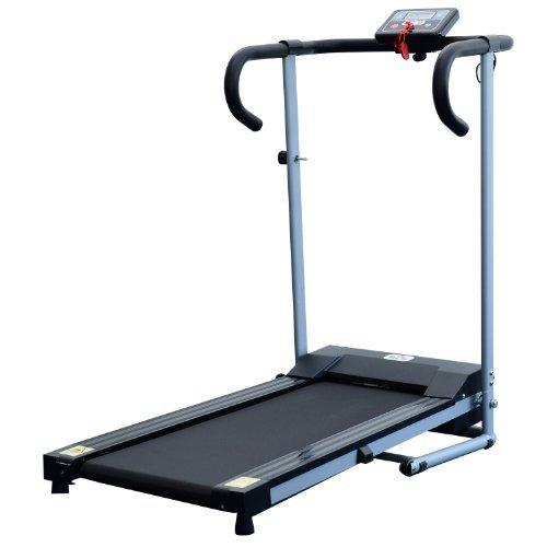 Homcom Laufband Elektrisches Fitnessgerät Klappbarer Heimtrainer mit LCD-Display 150 kg Belastung 500 W, schwarz-silbergrau, B1-0097 - 2