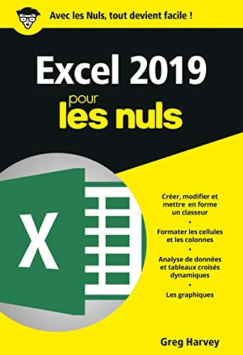 Excel 2019 pour les Nuls, poche par Greg HARVEY