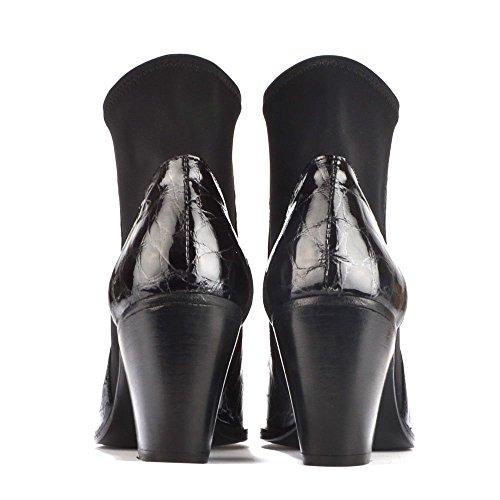 Elia B Elastic City Boots a Talon, Femme Noir