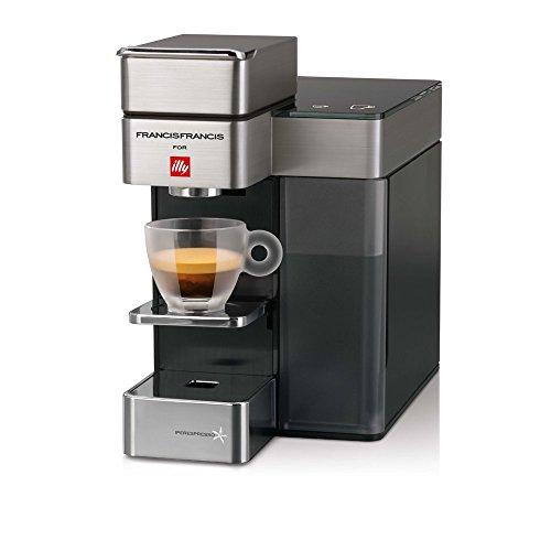 Francis Francis! 60204 Macchina da Caffè Espresso e all'Americana in Capsule Iperespresso Y5, 0.9 litri, Satin