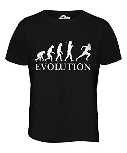 CandyMix Velocità Atletica Leggera Evoluzione Umana T-Shirt da Uomo Maglietta Nero