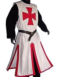 Mittelalter Waffenrock Kreuzritter weiß/rot 1510