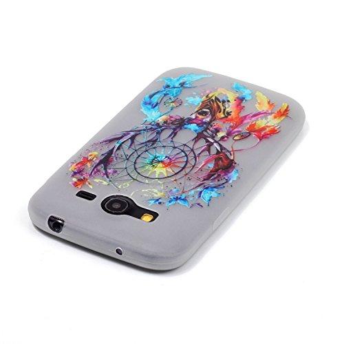CaseHome Samsung Galaxy Grand Neo Plus (I9060) Luminous Hülle (Mit Frie Displayschutzfolie) Leuchtende Silikone Rückhülle Für iPhone 6 6s Plus 5.5 Zoll Zoll Silikon Etui Handy Hülle Weiche Transparent Bunte Traumfänger