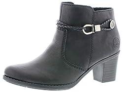 Rieker Damen Stiefeletten L7670, Frauen Ankle Boots, elegant Women's Women Woman Freizeit leger Stiefel Bootie,schwarz,40 EU / 6.5 UK