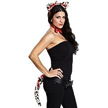 Leopardo Disfraz Juego Negro de color blanco Leo Leopard Outfit Look Disfraz ierung Tiger gato Depredadores verkleidung