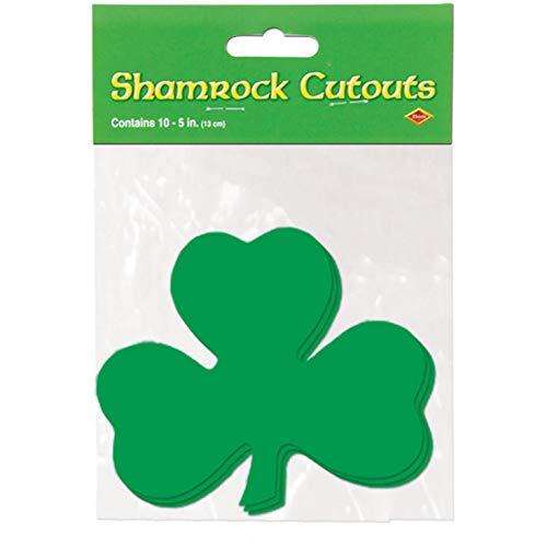 Preisvergleich Produktbild Arteki St. Patricks Day - Printed Shamrock Cutouts - Party Supplies - Accessories (1 Count) (10 / pkg) Pkg / 6 Patricks (Pkgof6)