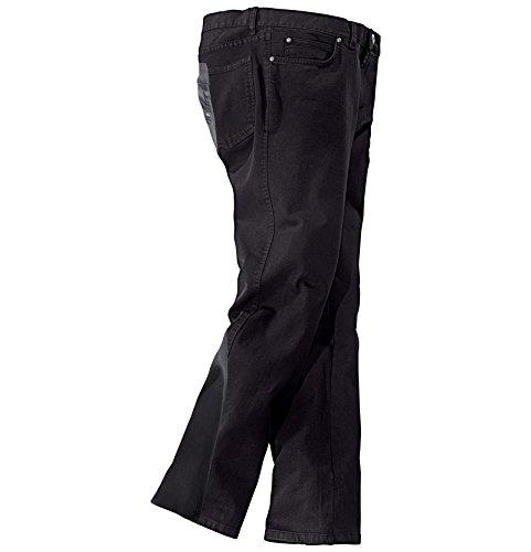 JAN VANDERSTORM Herren Doppelpack-Hose TEJA in 98% Baumwolle. Herren Hosen erhältlich in Größen 27 bis 74 Schwarz