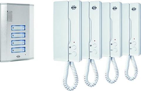 Byron Elro Audio Door Intercom for 4 Apartments