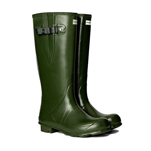 Hunter Men's Norris Field Side Adjustable Neoprene Lined Wellington Boots, Vintage Green...