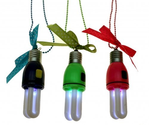 (4er Set Party-Halskette mit LED-Licht * Energiesparlampe *)