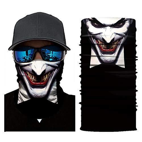 Semine Ciclismo Cara máscaras Cabeza Bufanda 3D Joker cráneo patrón máscara Cuello más Caliente Cara máscara