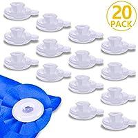 PAMIYO Set de 20pcs Clip de Couette, Transparent Pinces à Couette en Plastique Durable pour Garder la Converture Éviter de Glisser
