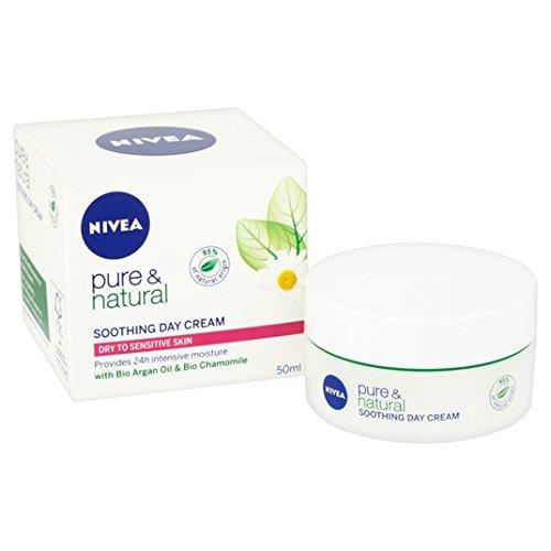 Crème de jour Pure & Natural Nivéa (/ Sensitive sec) 50ml