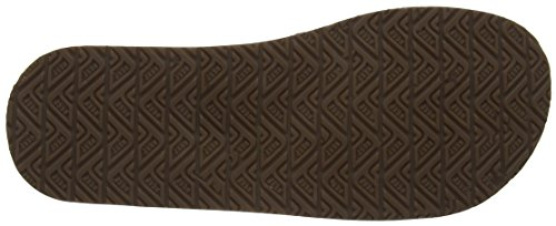 Reef Herren Leather Smoothy Zehentrenner Braun (BRONZE BROWN / BZB)