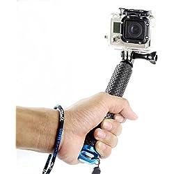 besty Action Camera Selfie Stick asta asta monopiede Maniglia Galleggiante Hand Grip treppiede per Sport Acquatici compatibile con GoPro Hero 5/4/3+/3/2/Session SJCAM Xiaoyi ecc. con 1/4filettatura standard internazionale Blu