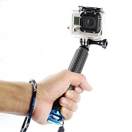 Besty Actionkamera Selfie Stick Stange Stab Einbeinstativ bis zum 49,5 CM Lang Handgriff Hand Grip Stativ Kompatibel mit Gopro Hero 6/5/4/3+/3/2/SESSION BESTY SJCAM YI CAM APEMAN VICTURE EKEN und Die Meisten Actioncams Blau
