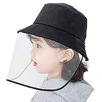 Kids Anti-Saliva Protective Cap Windproof Full Face Shields Anti-dust Head Protector Stylish Fisherman Hat (Kids)