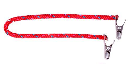 Cap Catch Clip Sicherung Hutband für Hut und Mütze (Rot / Marine)
