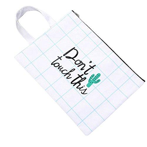 Originaltree cute cactus stampa moda borsa grande capacità impermeabile borsa tote Gift, 3#, Misura unica 3#