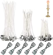 xianzhanSA 150 PCS Candle Wicks, Candle Making Kit, with 6 PCS Candle Wick Holder, Paraffin Wick, for Candle M