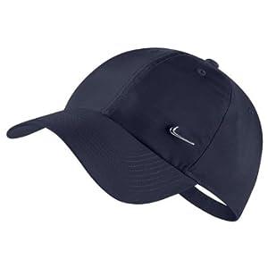 Nike H86 cap Metal Swoosh, Cappellino da Baseball Unisex Adulto, Ossidiana/Argento, Taglia unica