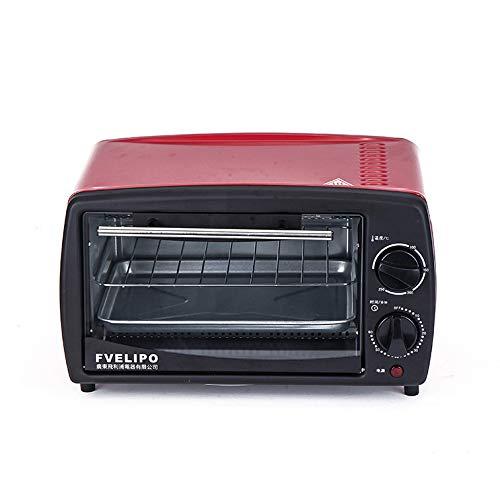 FAY Konvektions-Toaster, 800 W elektrischer Mini-Backofen, 12 l Kapazität, Edelstahl-Heizrohr, Einstellbarer Temperatur-Timer