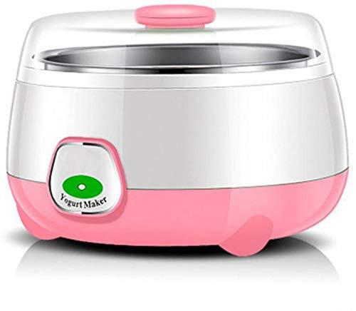 GOCART WITH G LOGO Household Electric Automatic Yogurt Maker Thermostatic Fermentation Mini Stainless Steel Machine Yogurt Maker (Pink)