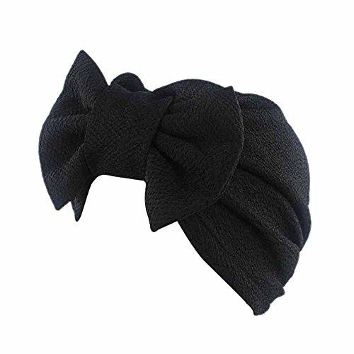 YULAND Damen Mütze Strickmütze Wintermütze, Accessoires Hüte, Mützen & Caps - Frauen Bow Cancer Chemo Hut Mütze Schal Turban Kopf Wickeln Cap