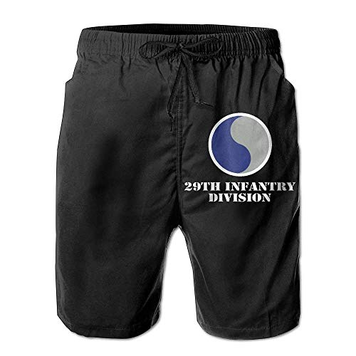 Army 29th Infantry Division Boardshorts Mens Swimtrunks Fashion Beach Shorts Casual Shorts Beach Shorts Medium -