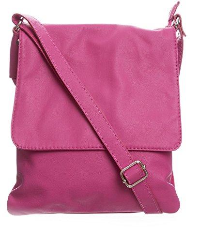 Big Handbag Shop - Borsa a tracolla donna (Pink (GU333))