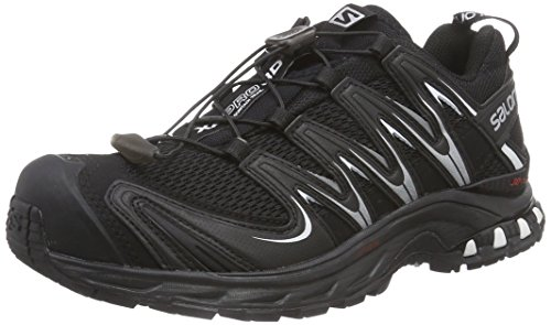 Salomon XA PRO 3D, Damen Traillaufschuhe, Schwarz (Black/Black/White), 36 EU (3.5 Damen UK)