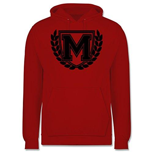 Anfangsbuchstaben M Collegestyle Männer Premium Kapuzenpullover / Hoodie Rot