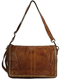 25d45e8197779 BZNA Bag Gil Cognac Italy Designer Clutch Umhängetasche Damen Handtasche  Schultertasche Tasche Leder Shopper Neu