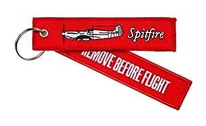 Porte Clés Remove Before Flight Spitfire