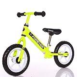 Laufrad Balance-Fahrrad, kein Pedal verstellbare Lenker/Sitz leichtes gehendes Trainingsfahrrad, für Kinder 2-6-Jährige (Farbe : Gelb)