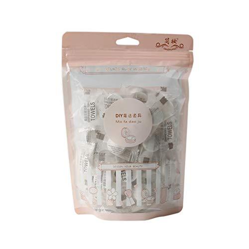 Gesunde Gesicht (Festnight 40pcs komprimierte Handtücher Portable Travel erweiterbare Handtücher Mini wiederverwendbare Gesichtspflege gesunde Magie Handtuch)