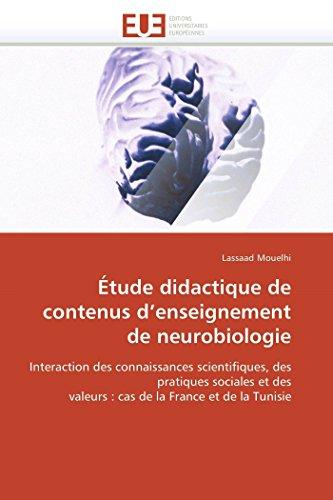 Étude didactique de contenus d enseignement de neurobiologie