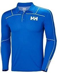 4b22616f Helly Hansen Lifa Active Light Long Sleeve Polo Olympian Blue. Breathable