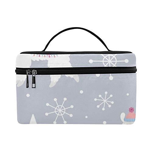 Lunchbox mit Weihnachtsmotiv, nahtlos, Lama-Muster, Lunchbox, Kühltasche, für Damen, Herren, Picknick, Bootfahren, Strand, Angeln, Schule, (Kostüm Kunst Konzept)