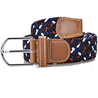 MadeGuyTM Braided Belts, Elastic Woven Canvas Fabric, High Quality Stretch material blend for fit, flexibility and strength, Perfect Gift Accessory in Multi Colors, 100% Satisfaction Guaranteed