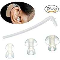 Risingmed 18PCS Ear Plug/Eartips/Domes + 6 universale Sound Tubes Siemens Resound Bte Hearing Aid Aids Eartips Domes (S…