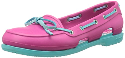 Crocs Beach Line Boat Shoe Women, Chaussures bateau femme Candy Pink/Pool