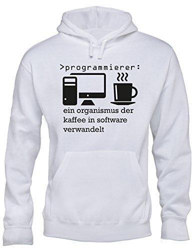 Angry Shirts Programmierer - Ein Organismus der Kaffee in Software verwandelt! Perfektes Geschenk für Informatik Studenten - Herren Hoodie