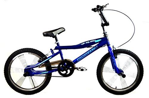 BMX BIKE 20'' FREESTYLE 4 x PEGS Jugend Fahrrad PROGRESSER GROSSE AUSWAHL Blau