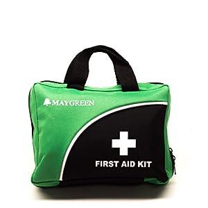 Erste-Hilfe-Set von MayGreen – umfassende Erste-Hilfe-set für Haus, Arbeit, Auto oder Reise. Kommt in Rot oder Grün und ist auch ein tolles Geschenk. (Grün)