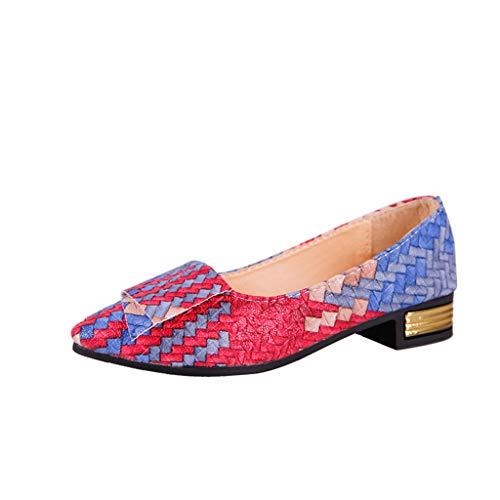 Mocasines Planos para Mujer Vistoso Pintado, Casual Zapatillas Náuticos Adecuado para Oficina y Uso...